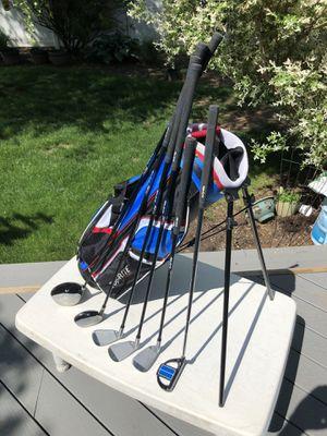 """TopFlite Junior Golf 7-piece golf Set Youth (designed for youth 43""""- 49"""" tall) RH VGC for Sale in Westfield, NJ"""