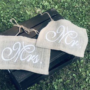 Mr & Mrs chair signs for Sale in Pine River, MN