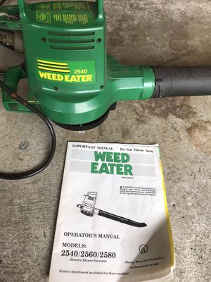 Weed eater 2540 electric blower for Sale in Lakewood, WA