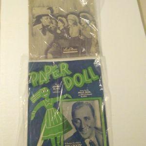 Bing Crosby Sheet Music Paper Doll.... for Sale in Silverdale, WA