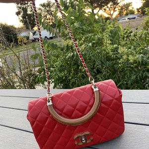 Scarlet Chanel On Wood Calfskin Crossbody Bag Small Size for Sale in Los Angeles, CA