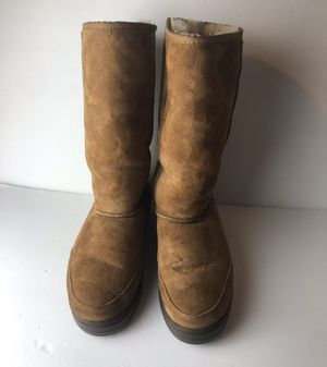 ❄️ UGG 5245 Classic Ultra Tall Braided Tasman Boots Chestnut Women's Sz 7 for Sale in Pittsburg, CA