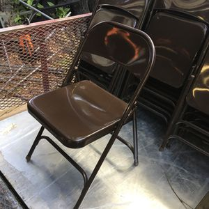 Virco Triple braced folding chairs $14 each for Sale in Mulberry, FL