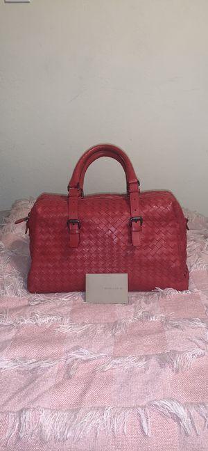 Botegga Veneta Boston carmine mini satchel for Sale in Garden Grove, CA