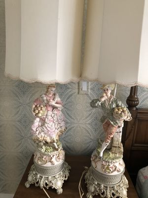 Figural ceramic /porcelain vintage table lamps for Sale in Quincy, MA