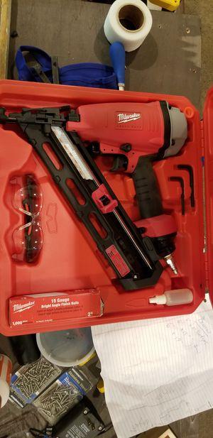 Milwaukee finish nail gun for Sale in Mercer Island, WA