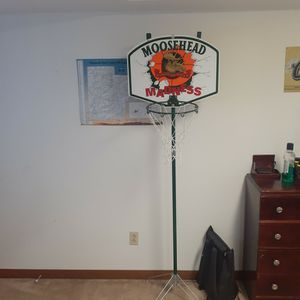 Moosehead Madness Beer Sign Basketball Hoop for Sale in Portland, OR