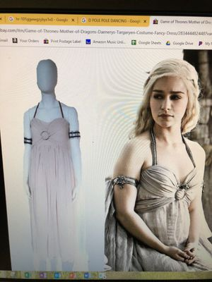 Game of thrones mother of dragons Daenerys Targaryen costume white dress sizes extra small, small,XL for Sale for sale  Los Angeles, CA