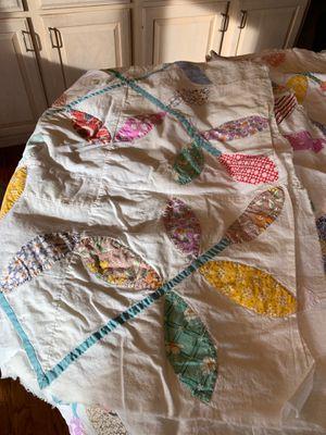 Hand appliqués quilt top - 2 pieces. for Sale in Colorado Springs, CO