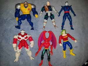 SET OF 6 1992-1997 TOY BIZ: MARVEL COMICS X-MEN & X-FORCE ACTION FIGURES: CABLE, STRONG GUY, MR. SINISTER for Sale in San Antonio, TX