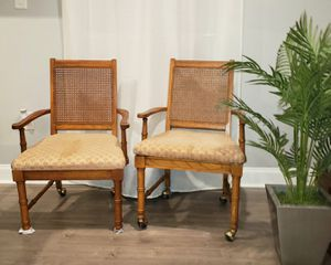 Vintage Bamboo cane back captain chairs for Sale in Altamonte Springs, FL
