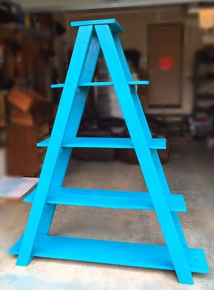 Teal Colored Ladder Shelf For $60 OBO for Sale in Puyallup, WA