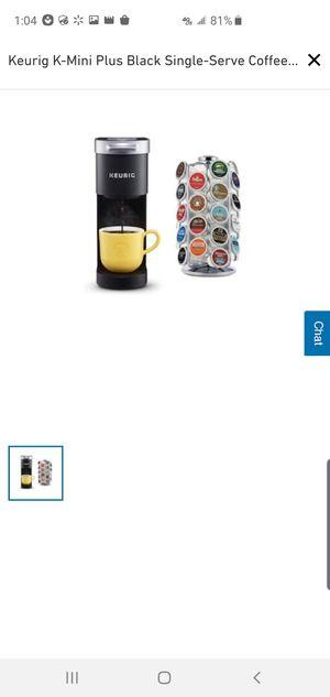 Keurig K-Mini Plus Black Single-Serve Coffee Maker Item #1228255Model #K-MINIPLUS-BC for Sale in Creve Coeur, MO