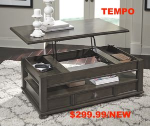 Devented Lift Top Coffee Table, Dark Gray for Sale in Santa Ana, CA