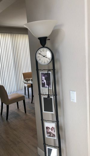 Floor Lamp with picture frames. for Sale in Etiwanda, CA