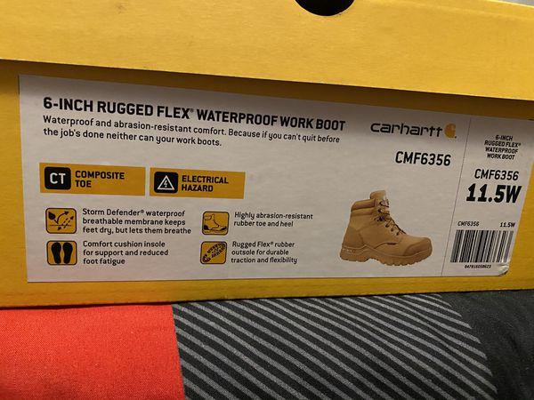 Carhartt 6in Rugged Waterproof Work Boots