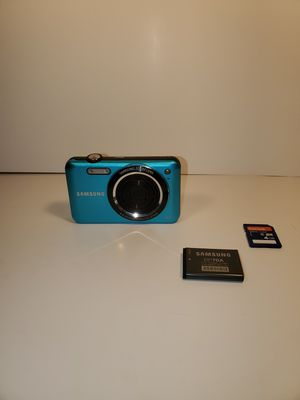 Samsung SL605 12.2MP Turquoise Digital Camera w/Battery, Cord; Tested for Sale in San Antonio, TX