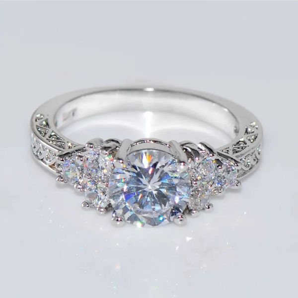 5.8ct Diamond 10k Gold Ring wedding engagement proposal love causal gift Christmas jewelry