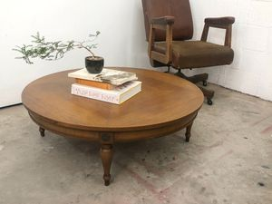 Mid Century low round coffee table, japanese inspired low profile table for Sale in Los Angeles, CA