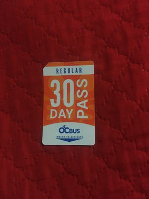 OC BUS pass 30 days for Sale in Anaheim, CA