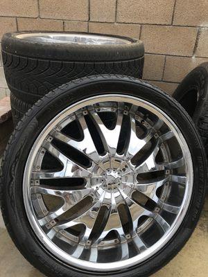 24 inch rims Chevy Silverado for Sale in Ontario, CA