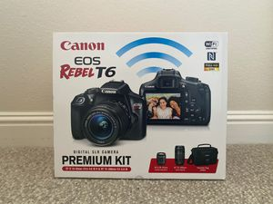 *BRAND NEW* Canon Rebel T6 with two lenses (18-55mm f3.5-5.6 & 75-300mm f4-5.6) for Sale in Belmont, CA