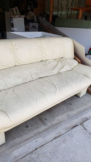 FREE White Leather Couch for Sale in San Diego, CA