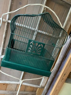 Antique Bird stand and cage for Sale in San Marcos, TX