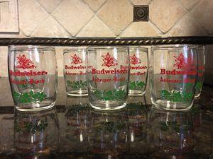 Vintage Set of Seven Budweiser Anheuser-Bush 4 oz Mini Beer Barrel Tasting Glasses for Sale in Miami, FL