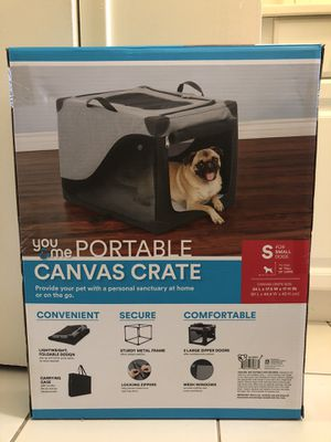 Portable dog Canvas/Crate for Sale in Hawthorne, NJ