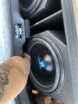 Nemesis Audio 2 15s Q Bomb Pro Box 3000 watt Amp with bass control knob for Sale in Garland, TX