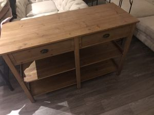 Gorgeous wooden tv/console table for Sale in Rockville, MD