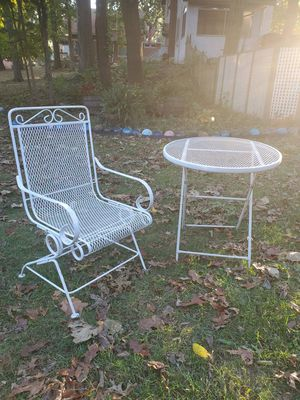 Vintage Mid Century Patio Furniture Wire Mesh Collapsible Folding Table for Sale in Cincinnati, OH