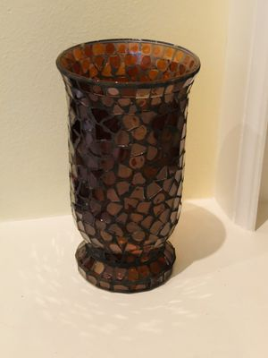 "Large 10"" mosaic glass vase/candle holder for Sale in Katy, TX"