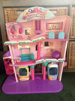 Shopkins LOL Barbie Dolls toys dollhouse w/ elevator slide cars chairs Excellent Condition for Sale in Bellflower, CA