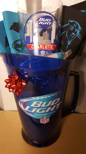 Christmas Holiday Gift Set Bud lite pitcher, charlotte collectable Glasses, koozies, etc! for Sale in NC, US