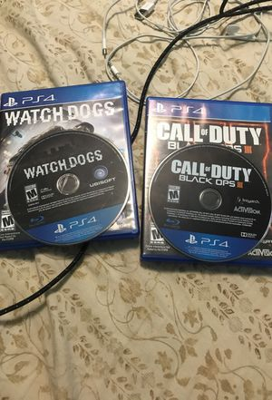 Watch dongs and call of duty black ops 3 like new for Sale in Hialeah, FL