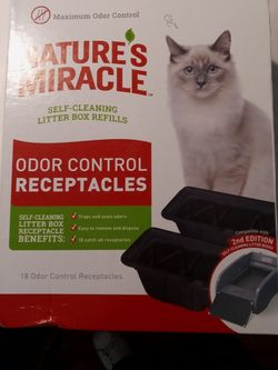 Natures Miracle Litterbox w/ Odor Control Receptacles & Odor Control Filters for Sale in North Olmsted,  OH