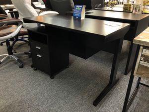 Dark espresso finish desk w/filing cabinet for Sale in Coppell, TX