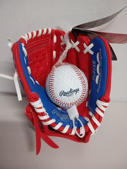 Rawlings Players Series Youth Tball/Baseball Glove with ball for Sale in Houston,  TX