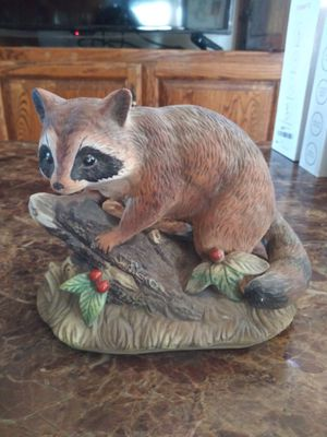Collectible porcelain raccoon statue for Sale in Redondo Beach, CA