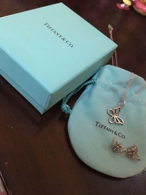 Tiffany butterfly earrings/necklace for Sale in CT, US