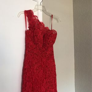 Red One Shoulder Lace And Sparkle Dress for Sale in Las Vegas, NV