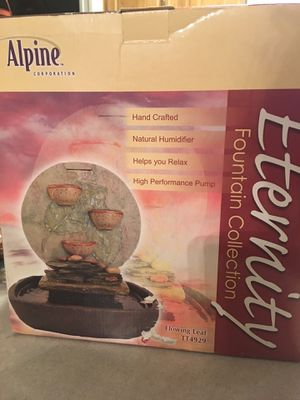 Eternity Fountain Collection. Alpine. Hand Crafted. Natural Humidifier. Helps you Relax. for Sale in Chula Vista, CA