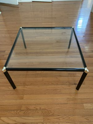 Matching Black-frame and glass table and bookcase/display shelf for Sale in Cherry Hill, NJ