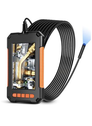 Industrial Endoscope Borescope Camera 1080P HD Video Inspection Camera with IPS Screen 180 Wide Viewing Angle,8 Bright LED Lights,16.4ft,for Car,Air for Sale in Corona, CA