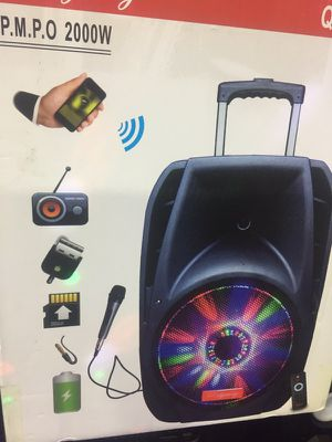 2000 watts portable Bluetooth USB/ad card radio Trolly rechargeable speaker for Sale in San Francisco, CA