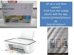 Hp all in one deskjet 2725 New!! Printer/scanner/photocopy!! You can print through your mobile phone!! Only 60 dollars!! Big big deal for Sale in Jamaica, NY