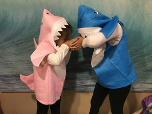 Cute Halloween Baby Shark costume 0-7 years Blue & Pink for Sale in Fullerton, CA