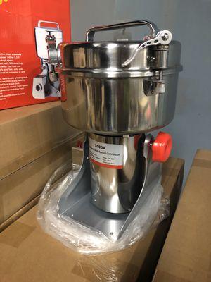 Electric Grain Mill Grinder for Spice Nut and Coffee. Stainless Steel. 4000W Powder Machine. Good for Herbs Corn Sesame Soybean Pepper Bait Feed for Sale in Needham, MA
